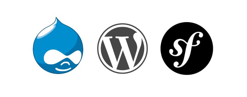 Drupal 7 & 8, WordPress, et Symfony