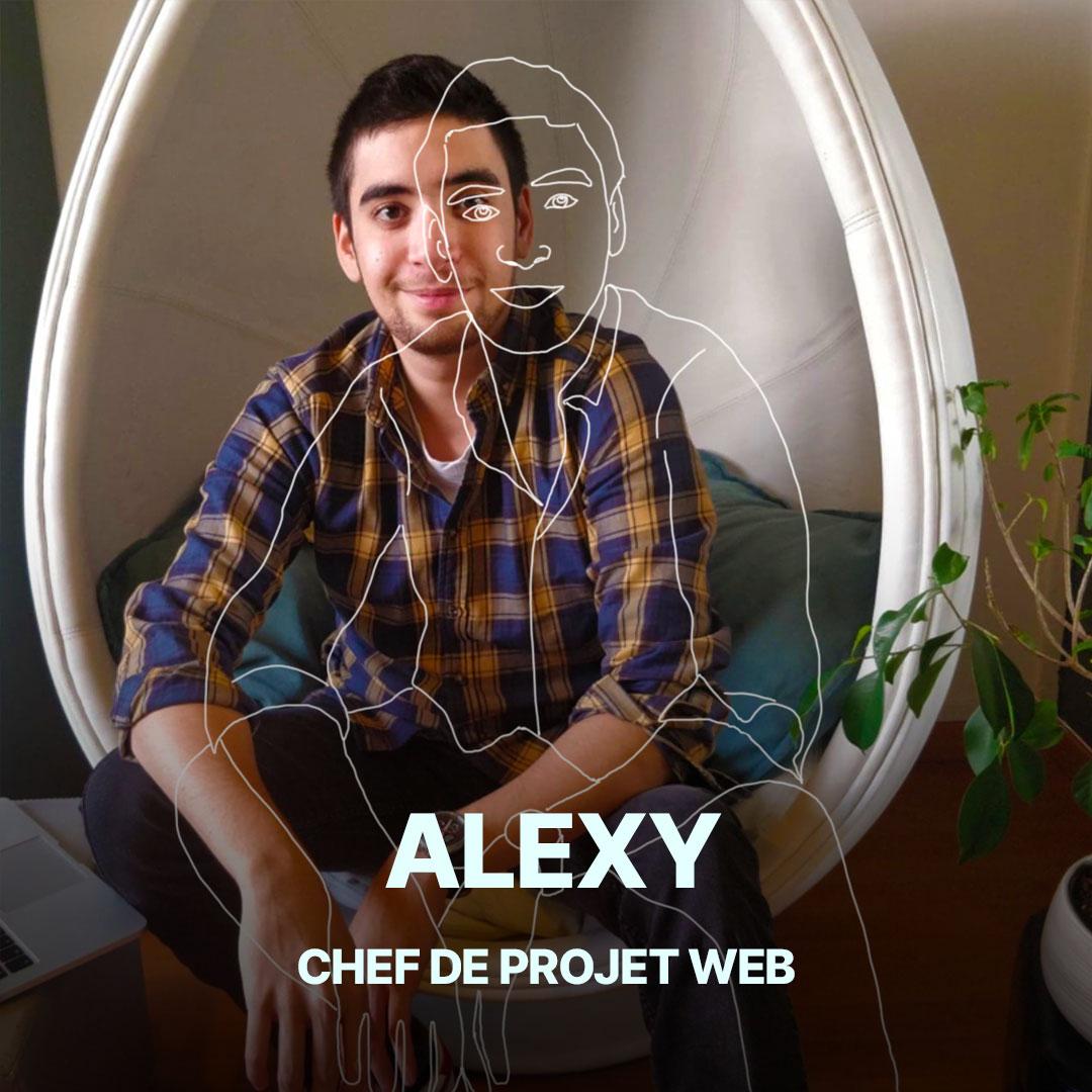 Alexy, chef de projet web de l'agence Hippocampe