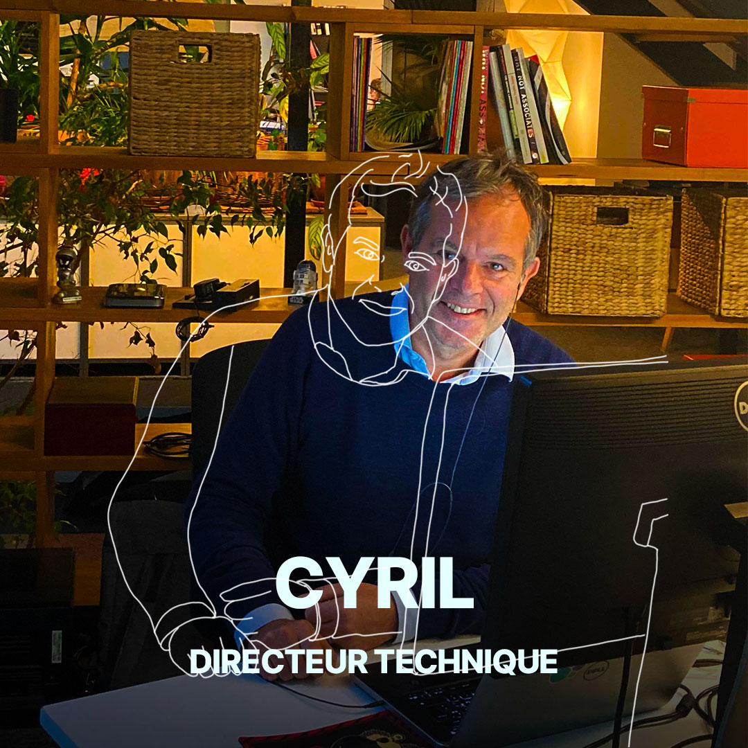 Cyril, directeur technique de l'agence Hippocampe