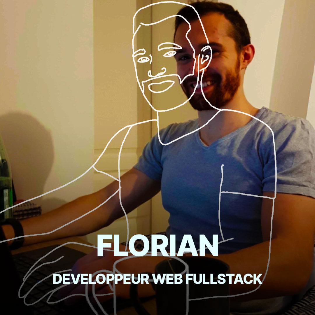 Florian, développeur web fullstack de l'agence Hippocampe
