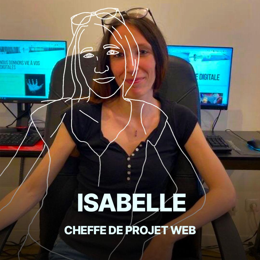 Isabelle, cheffe de projet web de l'agence Hippocampe