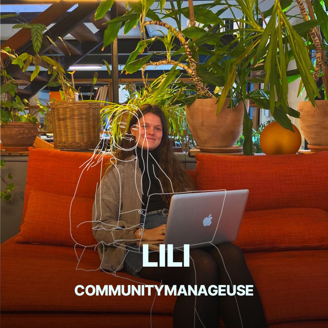 Lili, chargée de communication de l'agence Hippocampe