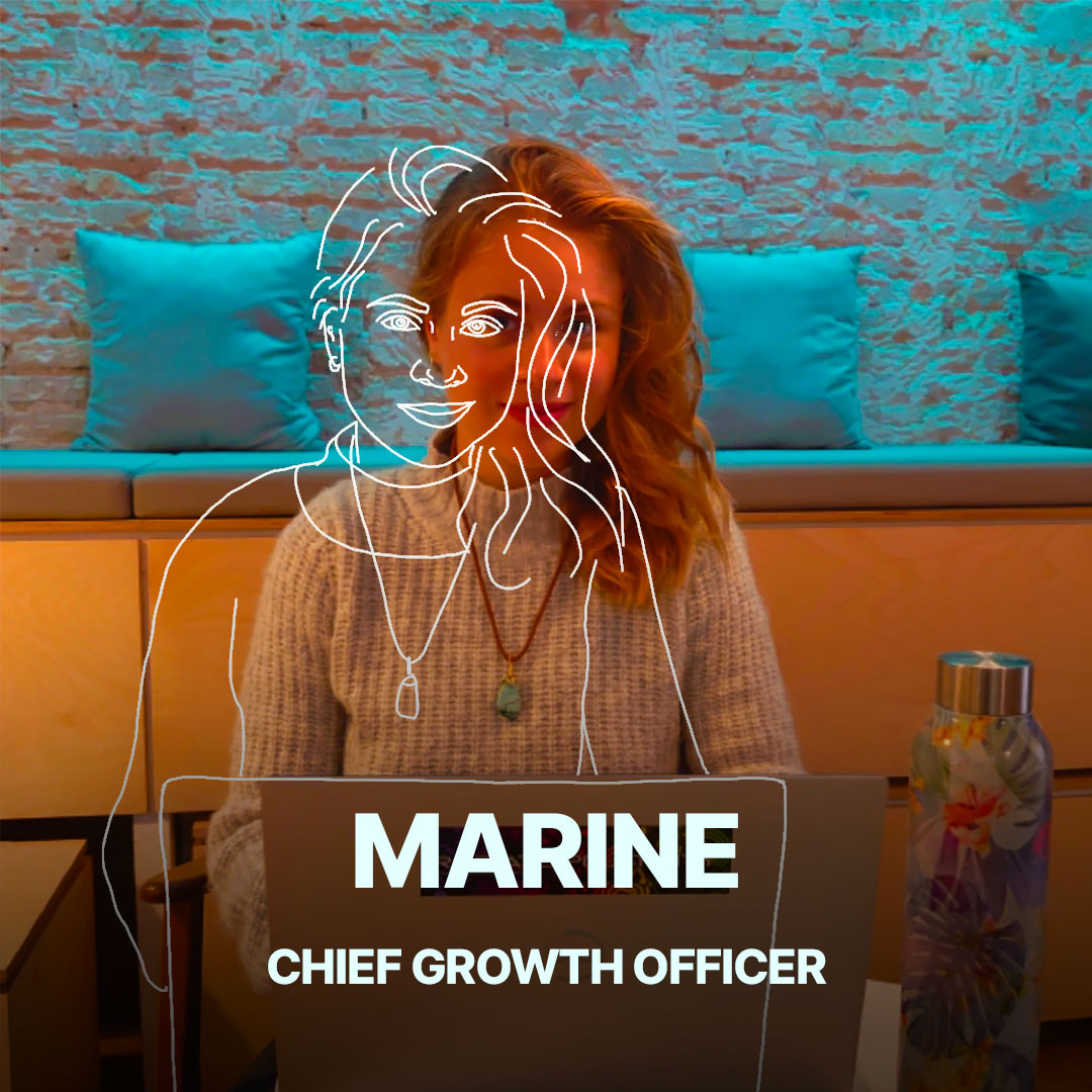 Marine, Chief Growth Officer de l'agence Hippocampe