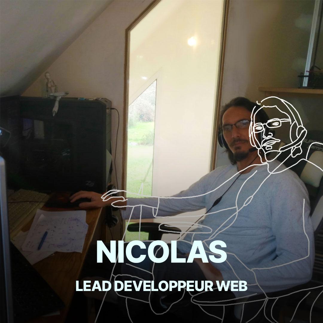 Nicolas, lead développeur web de l'agence Hippocampe