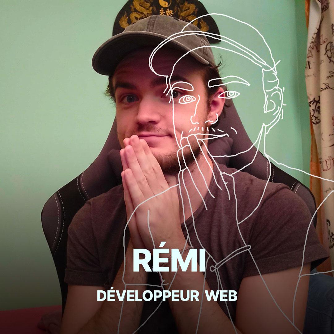 Rémi, développeur web de l'agence Hippocampe